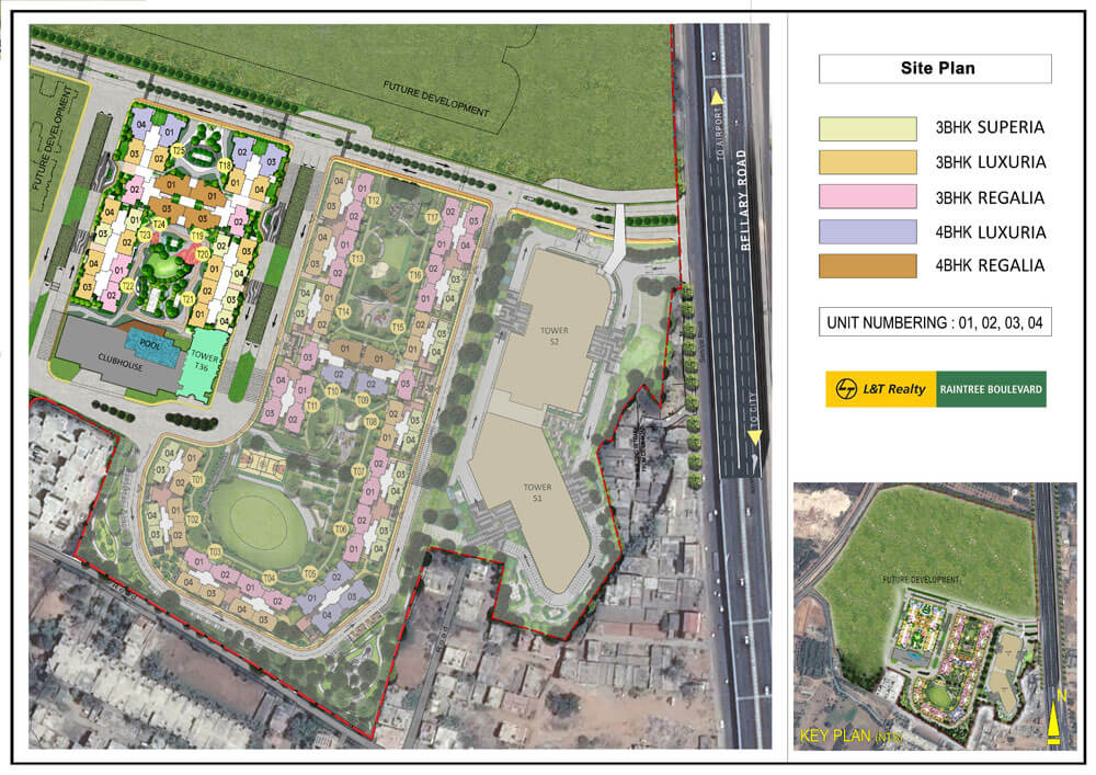 Site Plan - Raintree Boulevard, Bengaluru
