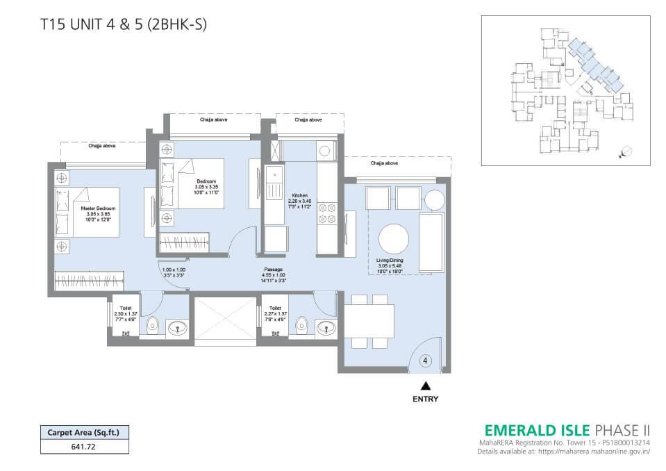 T15 Unit 4 & 5 (2BHK-S) - Emerald Isle