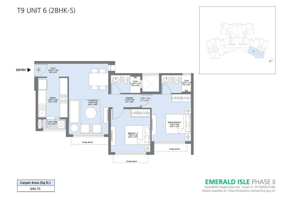 T9 Unit 6 (2BHK-S) - Emerald Isle