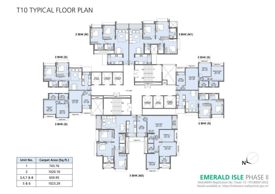 Tower 10 Floor Plan - Emerald Isle