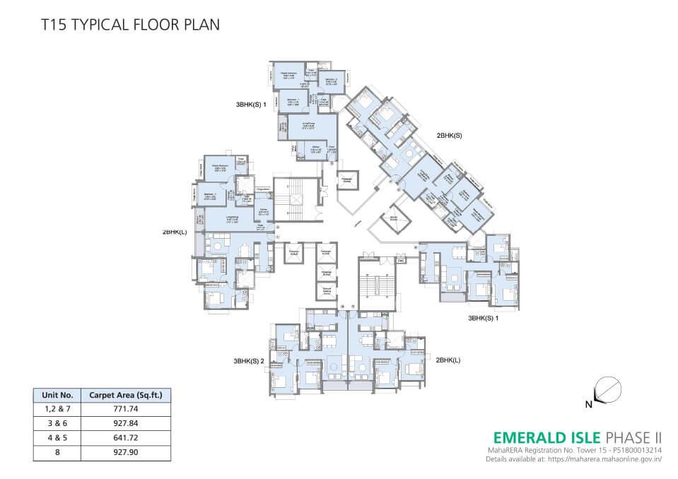 Tower 15 Floor Plan - Emerald Isle