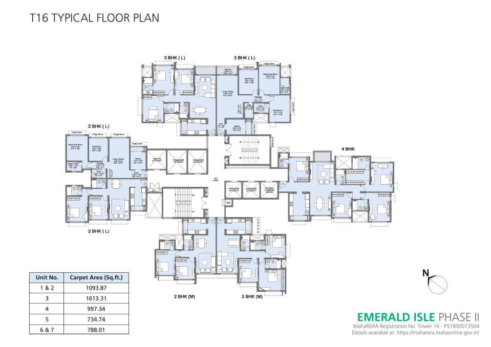 Tower 16 Floor Plan - Emerald Isle