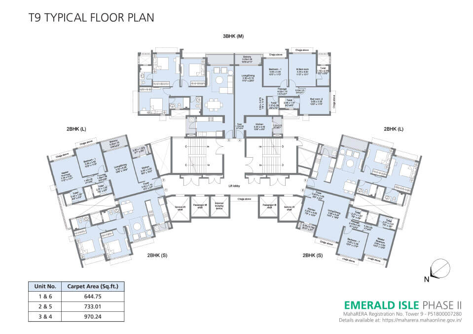 Tower 9 Floor Plan - Emerald Isle