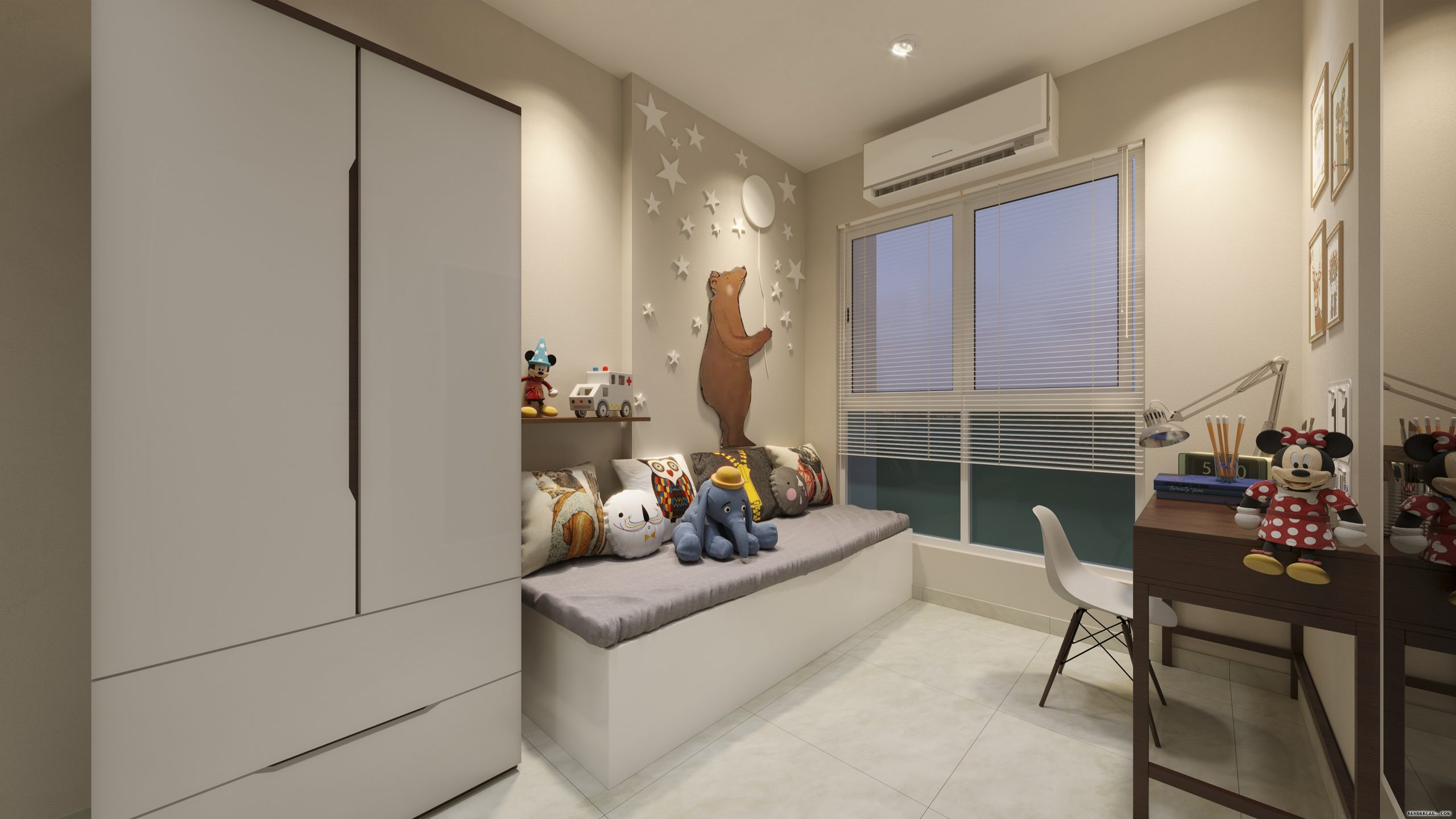 2 BHK Children's Room View of Centrona