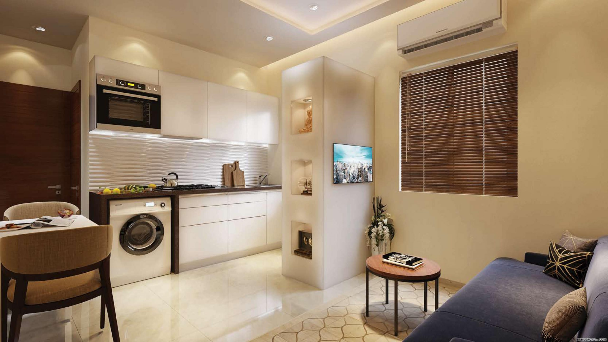 2 BHK Living Room View of Centrona