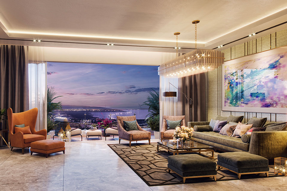 Living Room - Crescent Bay