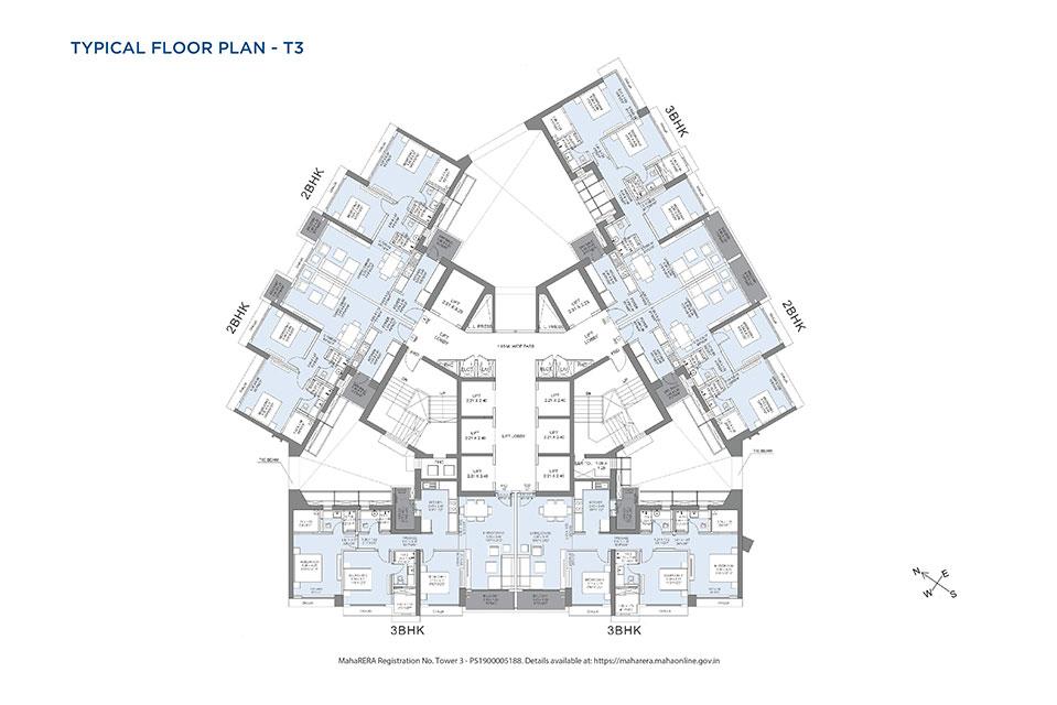 T3 Typical Floor Plan - Crescent Bay