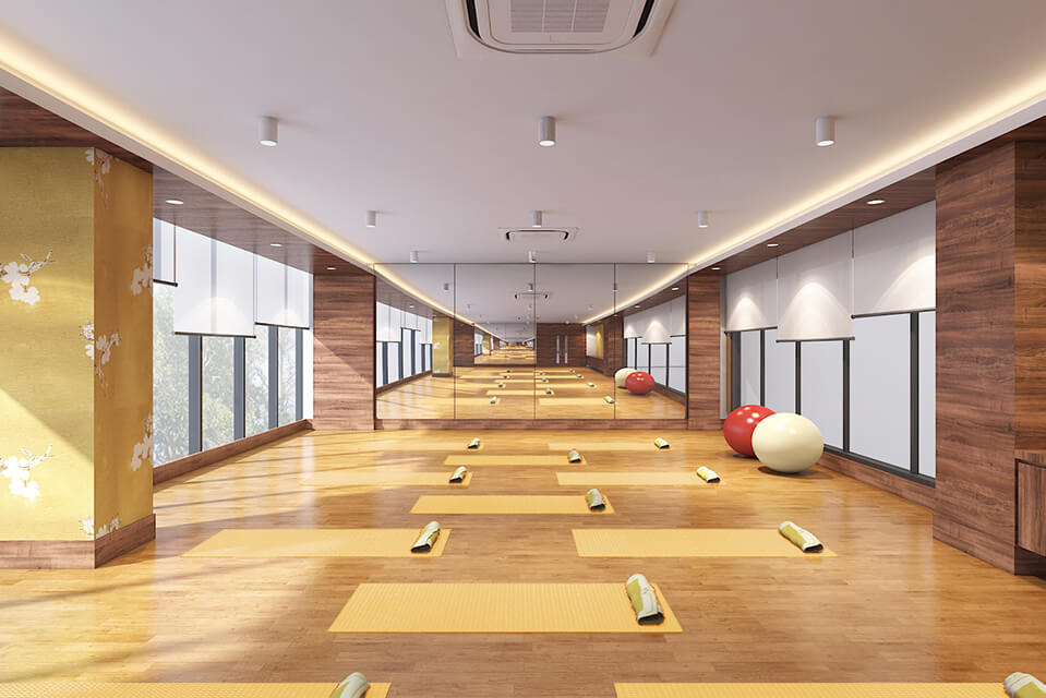 Dance & Yoga Room - Raintree Boulevard Amenities