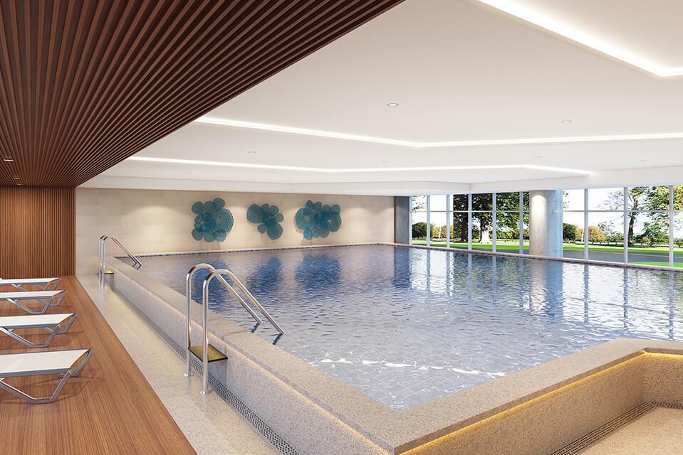 Temperature Controlled Swimming Pool - Raintree Boulevard Amenities