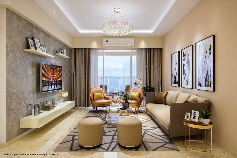 Living Room - Emerald Isle Amenities